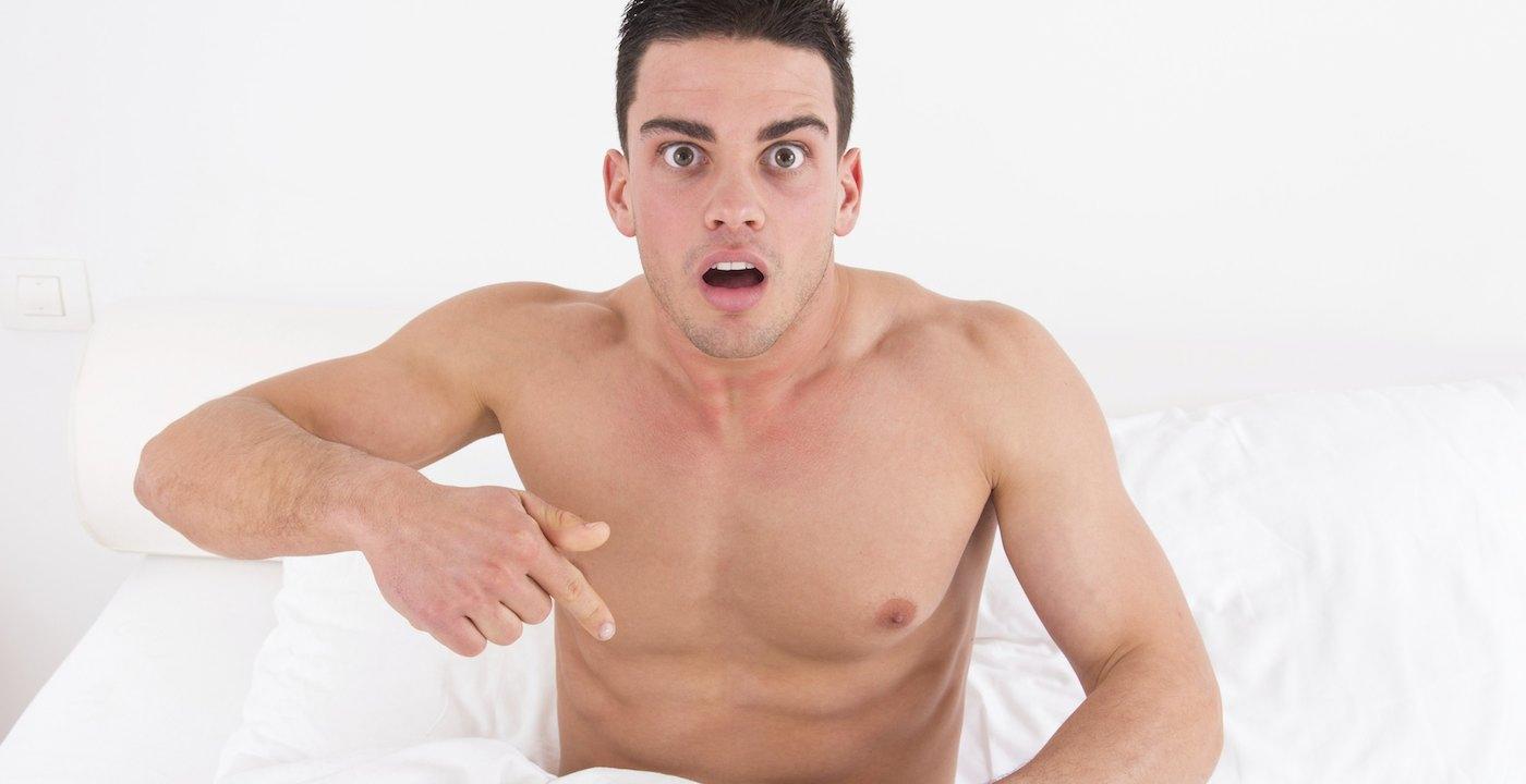 Man erect penis